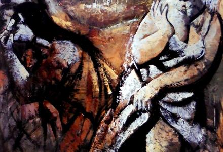 Olio su tavola, 90 x 90 cm., 1976 -Archivio Bramante, Milano.