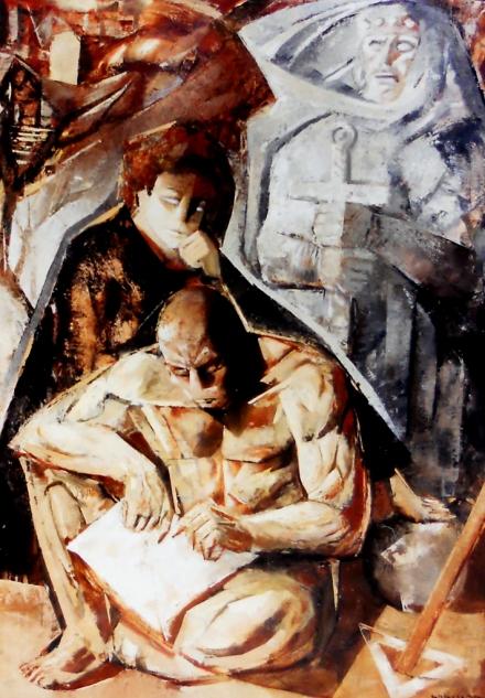 Olio su masonite, 146 x 200 cm., 1975 - Archivio Bramante, Milano.