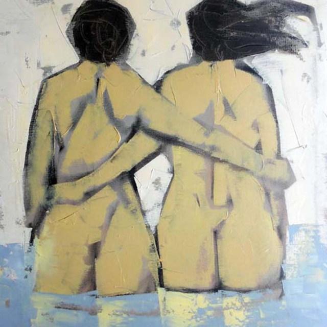 """""""Nudo di spalle"""" - Olio su tela, 40 x 50 cm.,1977 - Collezione Vecchiola, Macerata."""