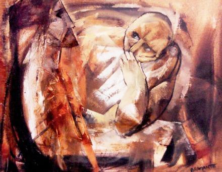 """""""Il Dubbio"""" - Olio su faesite, 80 x 60 cm.,1975 - Archivio Onofrio Bramante, Milano."""