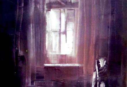 """""""Interno Mistico"""" - Olio su tela, 70 x 100 cm., 1980 - Collezione privata."""