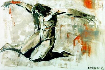 Olio su tela, 100 x 70 cm., 1973 - Collezione privata, Treviglio.
