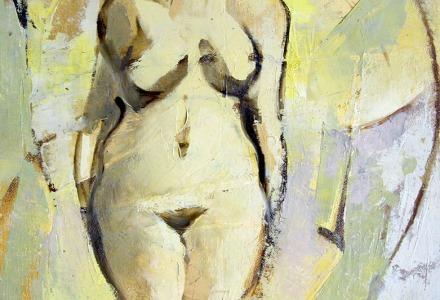 """""""Psiche"""" - Olio su tavola, 40 x 50 cm., 1974 - Archivio Onofrio Bramante, Milano."""