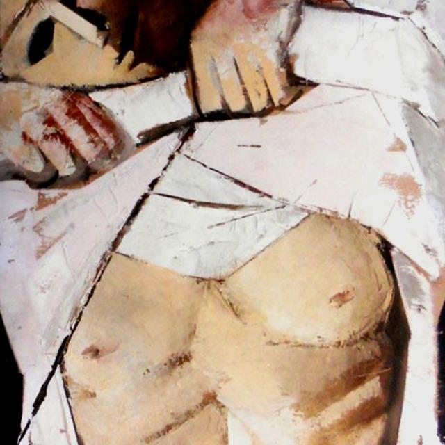 """""""Riposo"""" - Olio su tela, 40 x 50 cm., 1978 - Collezione privata."""