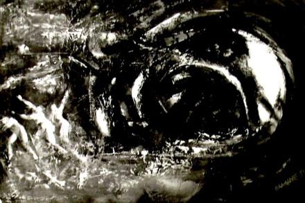 """""""Vortice"""" - Olio su tela, 100 x 70 cm., 1975 - Collezione privata."""